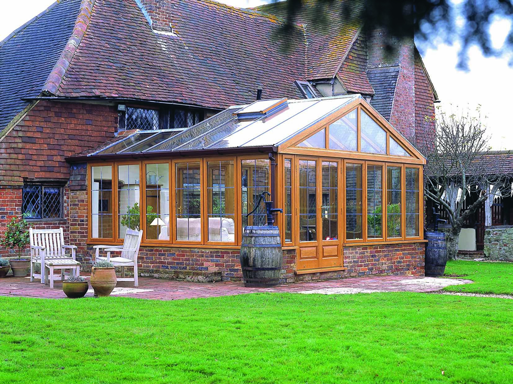 This design on a listed property enabled a large conservatory to be created