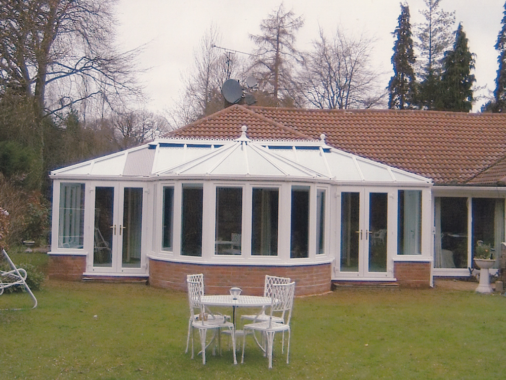 Large white conservatory