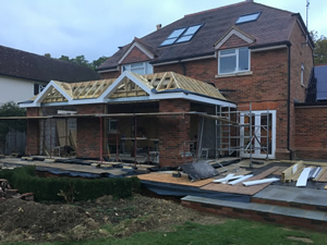 Conversion of a small extension into a large orangery