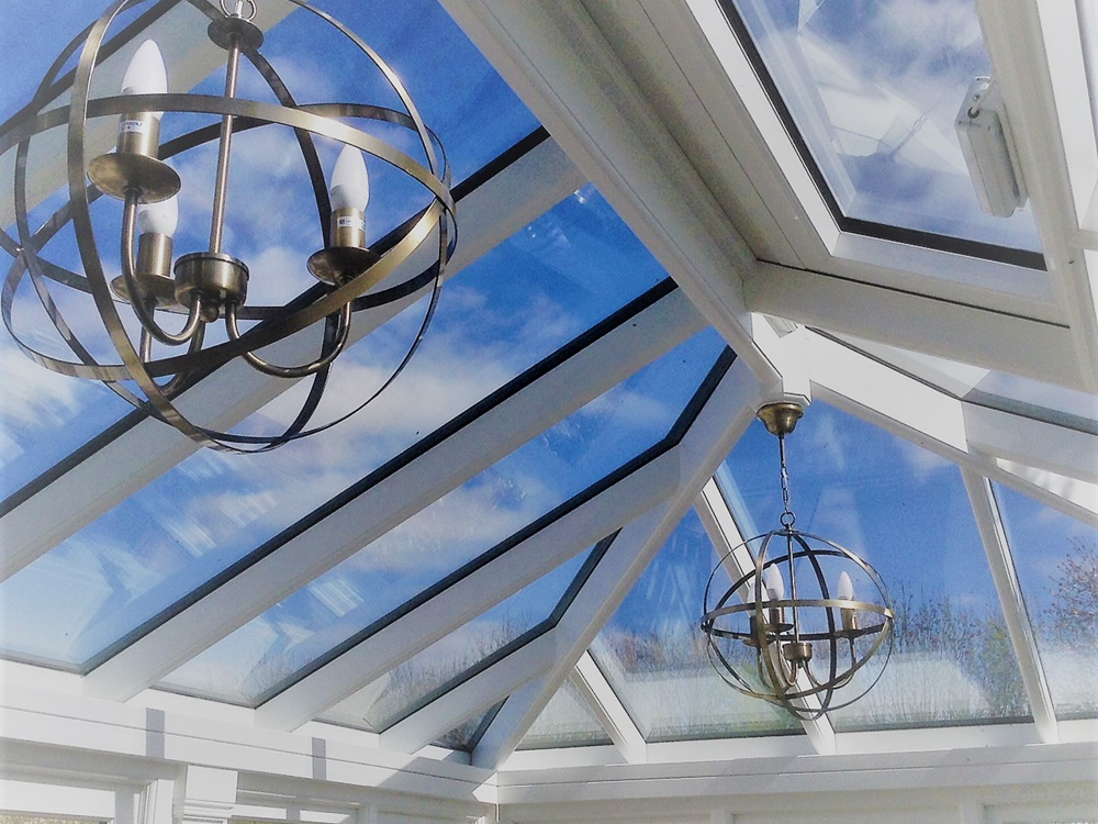 Orangery roof - inside view