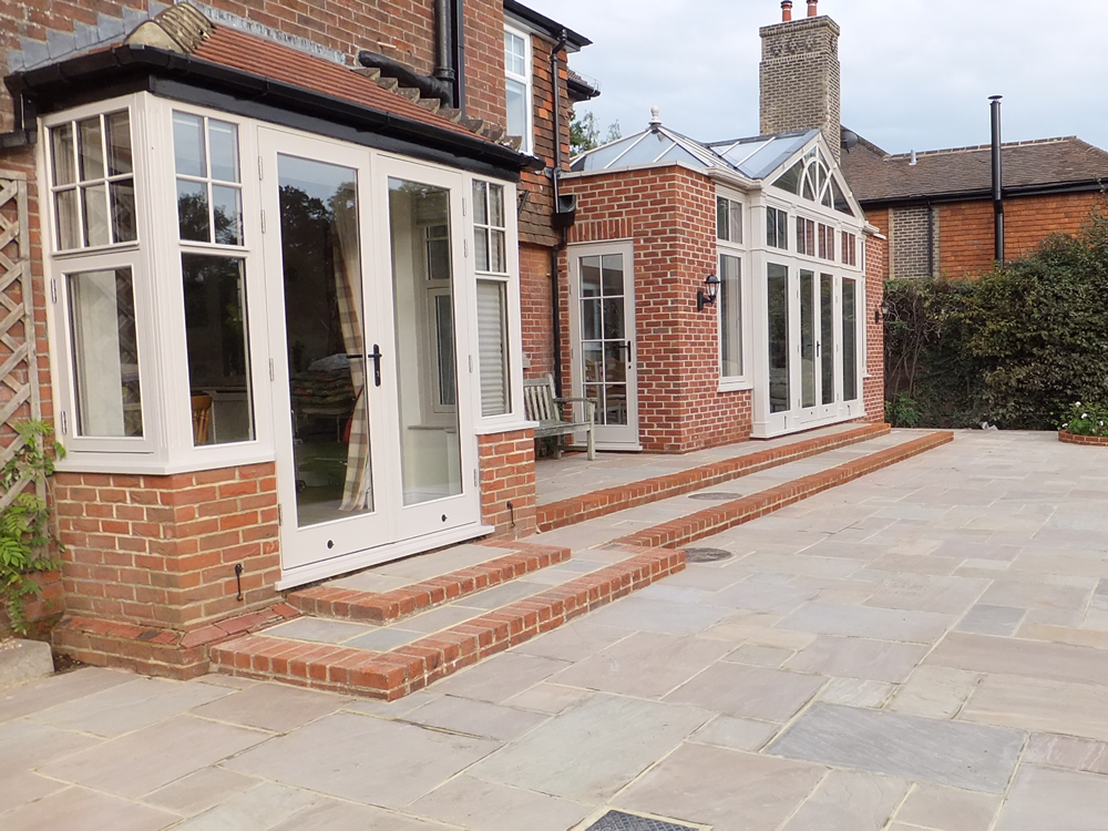 Landscaping outside an orangery