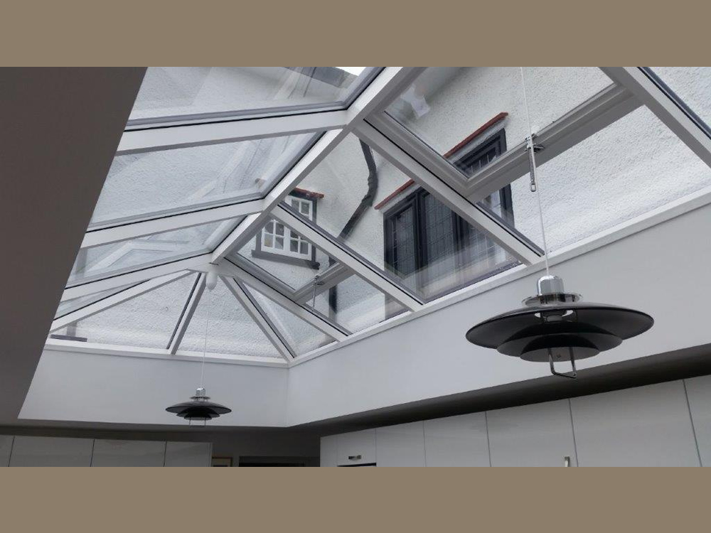 Inside view of an orangery roof lantern