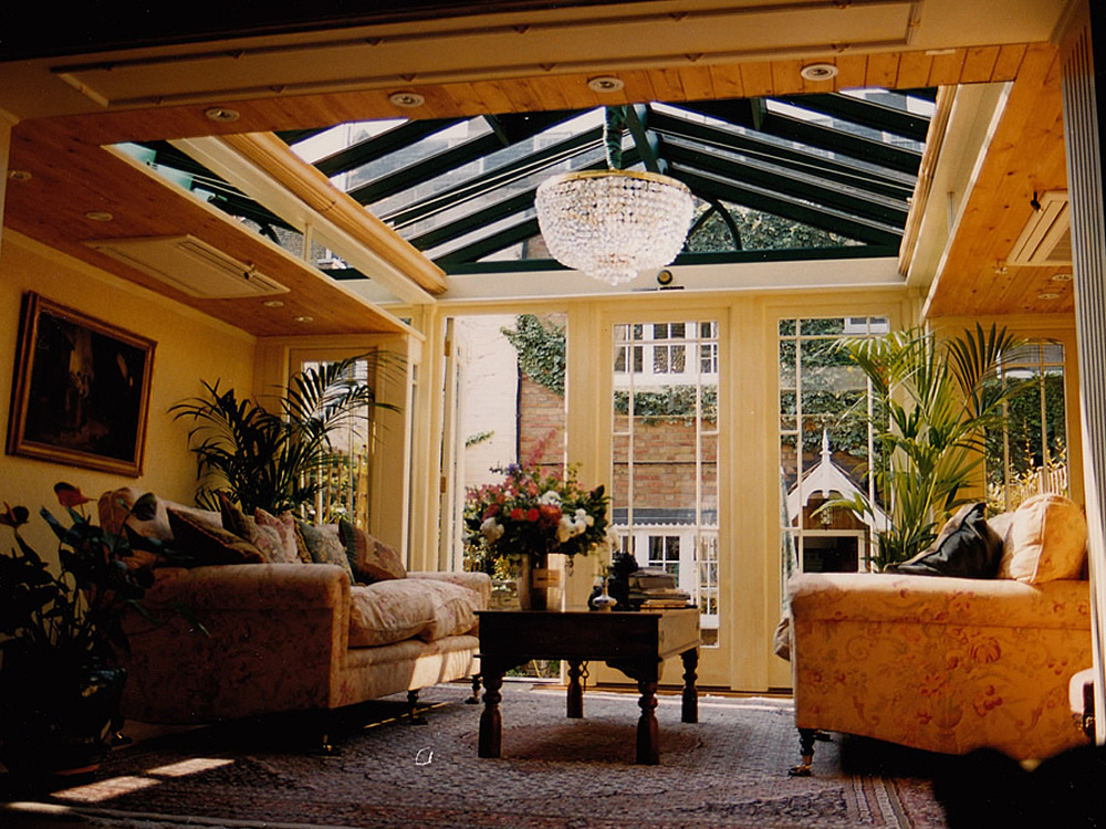 Inside an orangery. How different do you want it to be?!