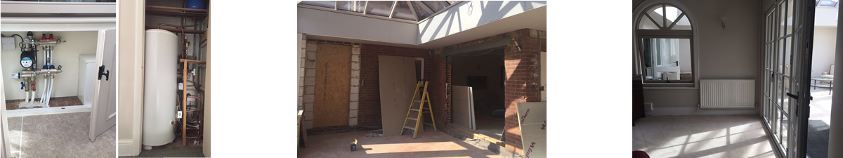 Project Pictures - Converting a conservatory into a large orangery
